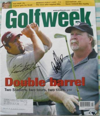 Craig Stadler & Kevin Stadler autographed Golfweek magazine