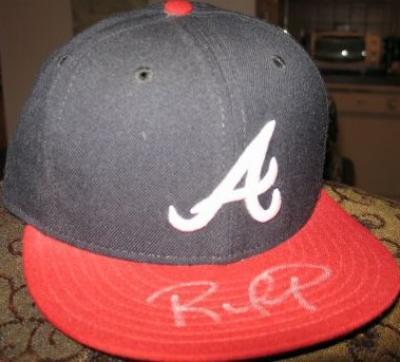 Rafael Furcal autographed Atlanta Braves game model cap