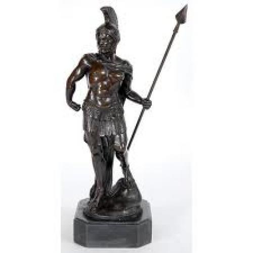 Antique Gladiator Figurine