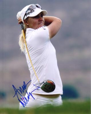 Anna Nordqvist autographed 8x10 golf photo