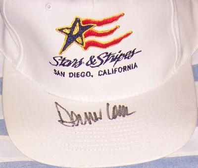 Dennis Conner autographed Stars & Stripes cap or hat