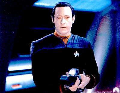 Brent Spiner autographed 8x10 Star Trek Next Generation Commander Data photo