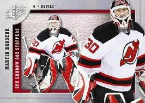 2009-10 SPx Hockey Card; Martin Brodeur 30