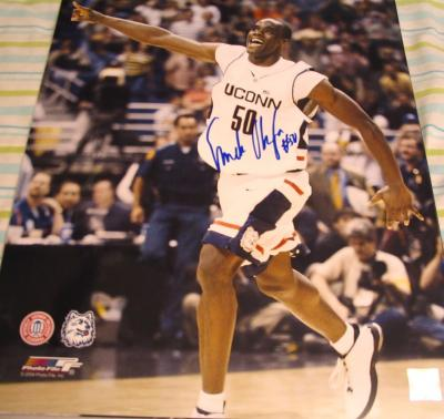 Emeka Okafor autographed UConn Huskies 16x20 poster size photo