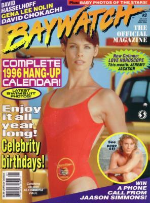 January 1996 Baywatch Magazine with calendar (Pamela Anderson Alexandra Paul)