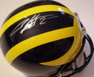 Charles Woodson autographed Michigan Wolverines full size helmet (Mounted Memories)