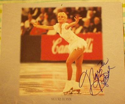 Nicole Bobek autographed 1997 U.S. Figure Skating Team 10x12 calendar page