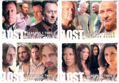 LOST 2009 Rittenhouse promo card partial set (4/5)