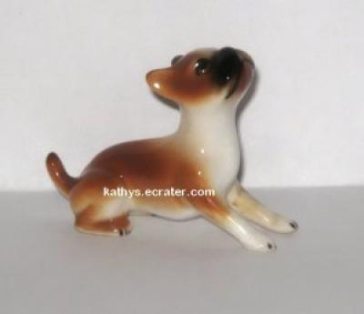 Miniature Porcelain Boxer Dog Animal Figurine