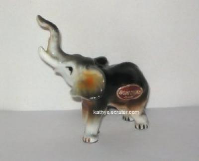 Bone China Japan Elephant Miniature Animal Figurine