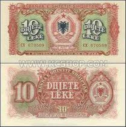 Banknotes; Dujete Leke 10; Albania banknotes
