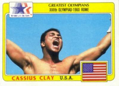 Cassius Clay (Muhammad Ali) 1983 Topps Greatest Olympians card
