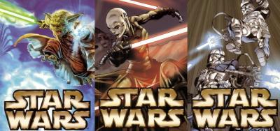 Star Wars 2003 Comic-Con promo postcard set (3)