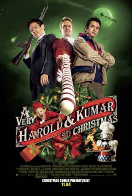 A Very Harold & Kumar 3D Christmas mini movie poster (Kal Penn John Cho Neil Patrick Harris)