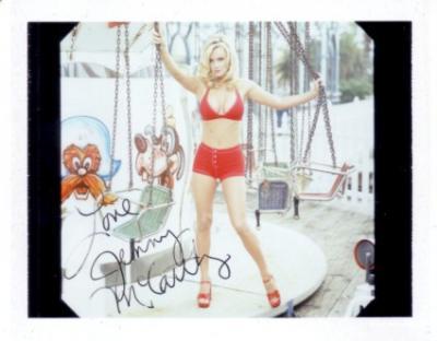 Jenny McCarthy autographed 1996 swimsuit calendar test photo