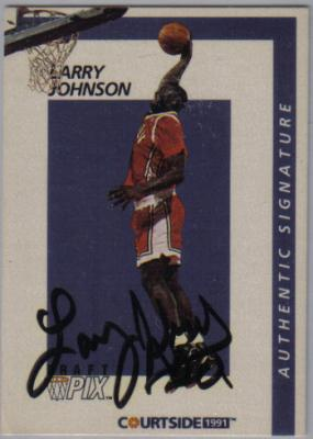 Larry Johnson UNLV certified autograph 1991 Courtside card