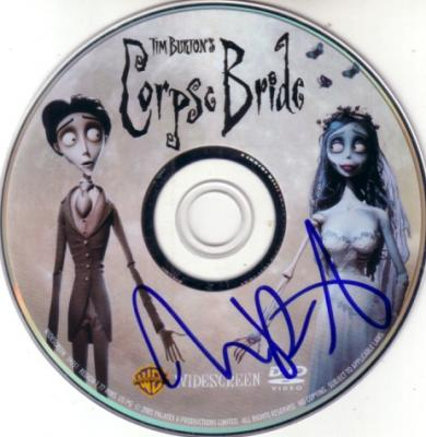 Tim Burton autographed Corpse Bride DVD