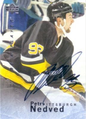 Petr Nedved certified autograph Pittsburgh Penguins 1996 Be A Player card