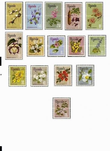 Uganda Thematic Flowers MNH 1969 Full Year Set Scott# 115-29 Thematic Rare