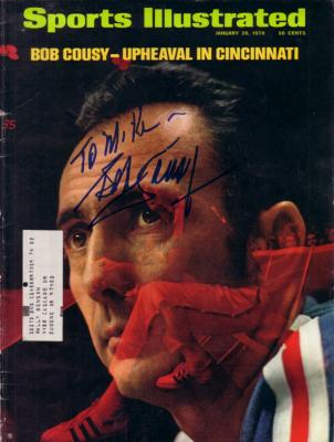 Bob Cousy autographed 1970 Sports Illustrated (to Mike)