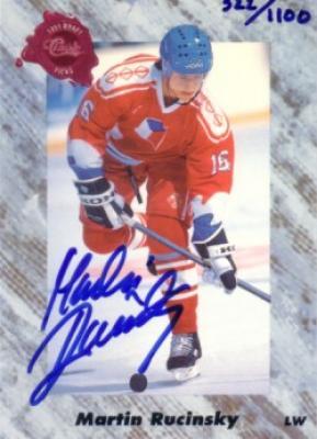 Martin Rucinsky certified autograph 1991 Classic card