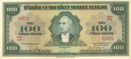 Banknotes; 100‑liras; Year: 1947