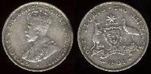 1 florin; Year: 1911-1936; (km 27)