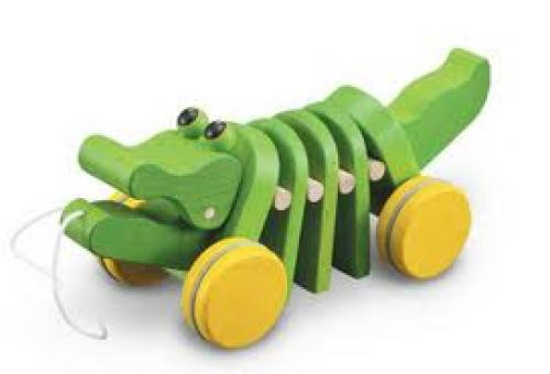 Dancing Alligator Pull Toy; Green