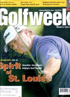 Peter Jacobsen autographed 2004 GolfWeek magazine