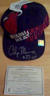 Alonzo Mourning autographed Miami Heat cap or hat