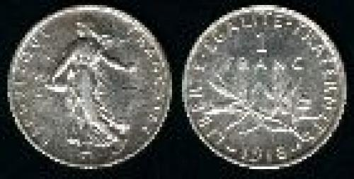 1 franc; Year: 1898-1920; (km 844.1)