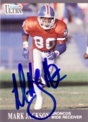 Mark Jackson autographed Denver Broncos 1991 Fleer Ultra card