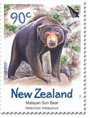 SUN BEAR STAMP FROM NEW ZELAND