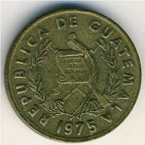 Coins; Guatemala, 1 centavo, 1974–1979