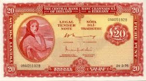 Banknotes;  Ireland - Eire - 20 Irish Punt Currency