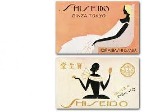 Shiseido match box label · October 1936