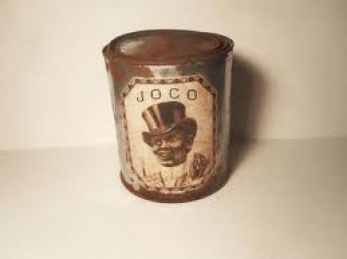Bottles and Cans; Antique RARE Joco Tin Can / Black Americana Item