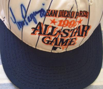 Tom Pagnozzi (Cardinals) autographed 1992 All-Star Game cap