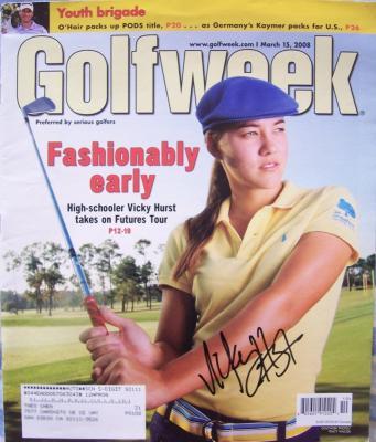Vicky Hurst autographed 2008 Golf Week magazine
