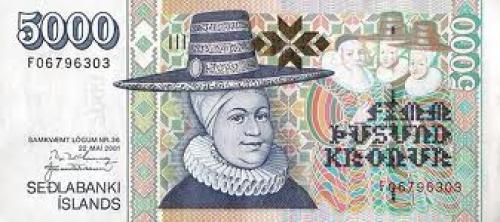 Banknotes; Iceland5000Kronur‑2001(2004)