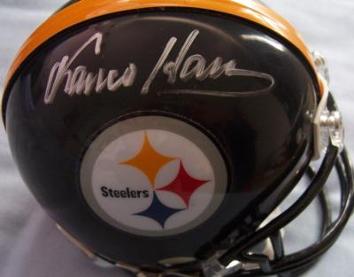 Franco Harris autographed Pittsburgh Steelers mini helmet