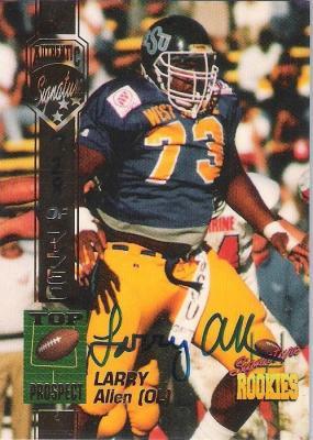 Larry Allen certified autograph 1994 Signature Rookies card