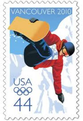 Stamps; Olympic Winter Games stamps from USA; 2011; 44 cents