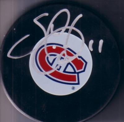 Saku Koivu autographed Montreal Canadiens puck