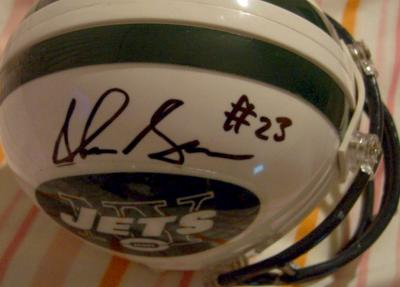Shonn Greene autographed New York Jets mini helmet