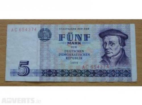 GDR/Germany -5 marks 1975