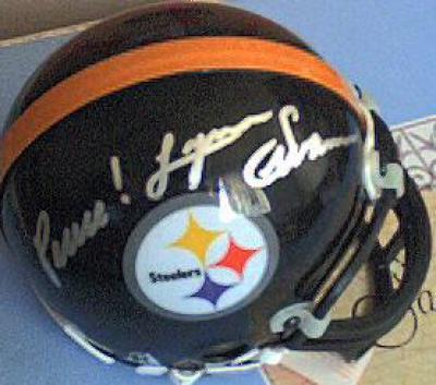 Lynn Swann autographed Pittsburgh Steelers mini helmet