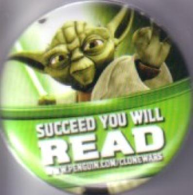 Star Wars Clone Wars 2011 Comic-Con promo button or pin (Yoda)