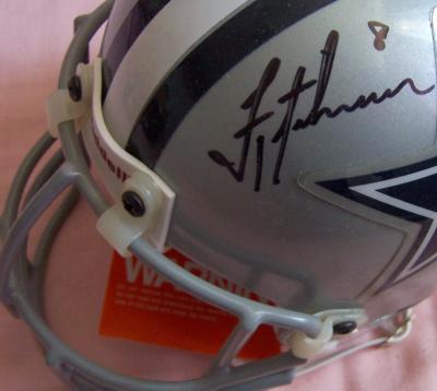 Troy Aikman autographed Dallas Cowboys authentic mini helmet (UDA)