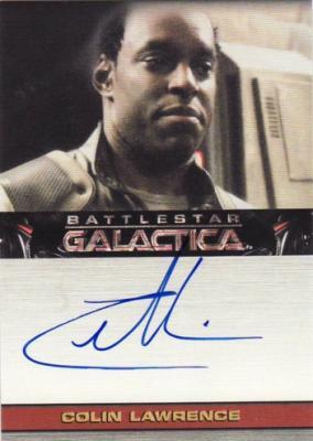 Colin Lawrence Battlestar Galactica certified autograph card